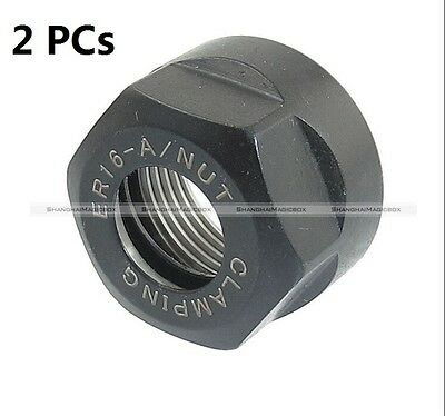 2pcs Er16 A Collet Clamping Nut For Cnc Milling Collet Chuck Holder Lathe New S3