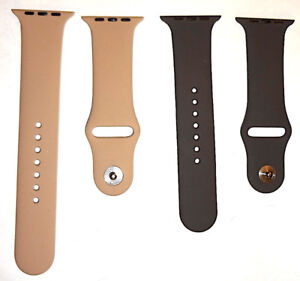 NEW SILICONE 42mm APPLE WATCH 1, 2, & 3 REPLACEMENT WATCH BANDS