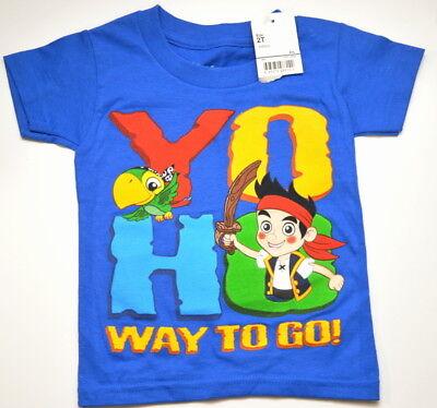 Jake and the Neverland Pirates Shirt Toddler Size 2T Yo Ho Way to go NWT - Jake And The Neverland Pirate Shirt