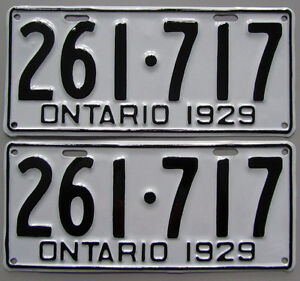 Classic Car YOM License Plates - Ministry Approval Guaranteed!