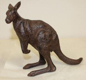 Cast Metal Kangaroo Heavy Cast Figurine