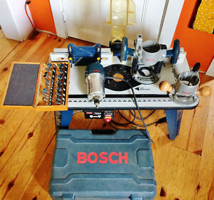 Bosch Router and Ryobi Router Table