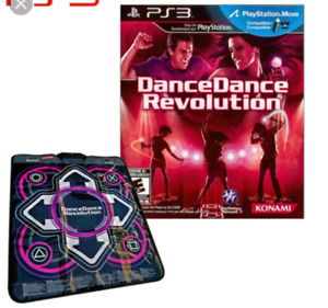 Ddr mat, and ps3 game.