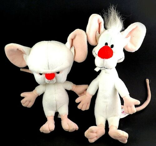 Vintage Warner Brothers - Pinky and The Brain Plush Figures by Dakin 1994