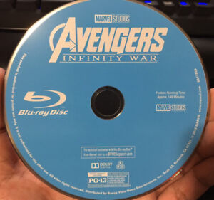 Avengers Infinity War Blu-Ray Disc