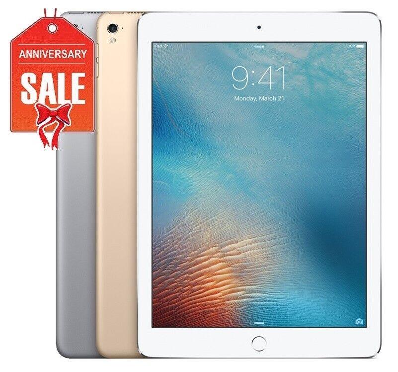 """Apple iPad 5th 2017, 32GB 128GB, Wi-Fi + Unlocked, 9.7"""" GRAY SILVER GOLD (R-D)"""