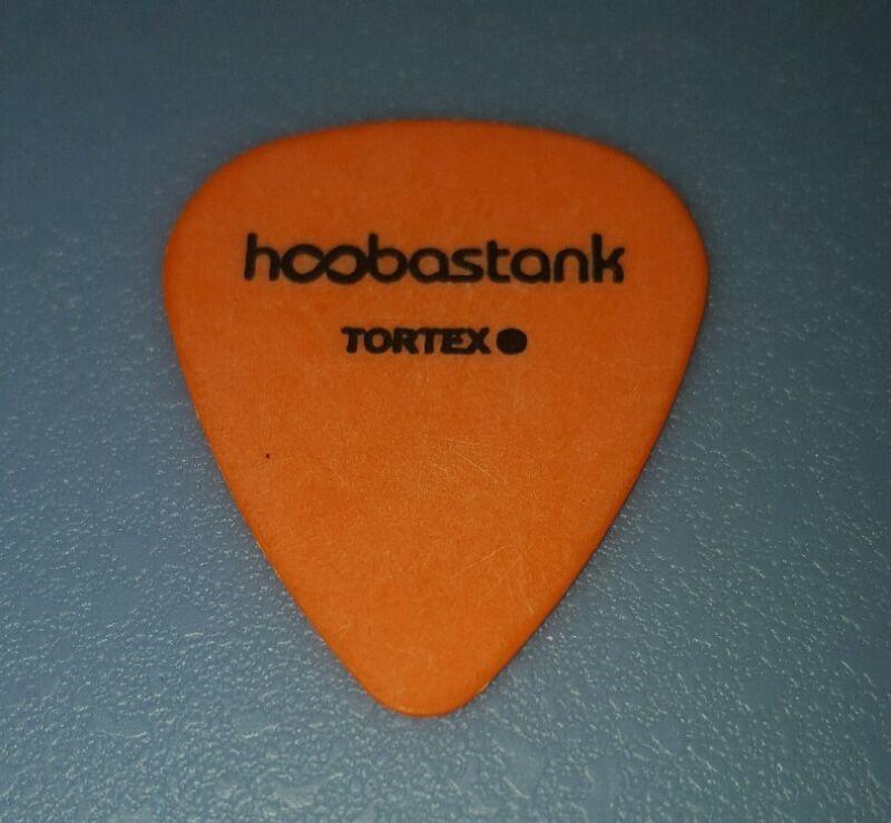 HOOBASTANK-Stage Used-David Amezcua-Signature Guitar Pick (Orange w/Black Print)