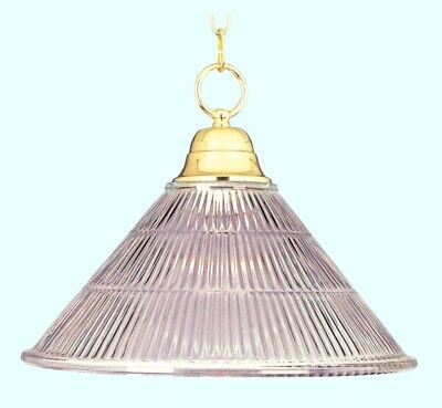 Ceiling Light Fixture Hanging Chain Pendant  Polished Brass Finish  Glass Shade Chain Pendant Light