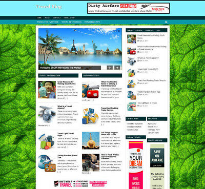 Travel Tips Store Website With Affiliates - Professional Design - Free Hosting