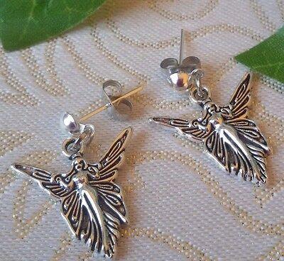 Elfen Ohrringe Ohrstecker Elfe Engel Fee Märchen Fairy Irland Silber Geschenk
