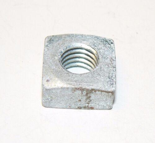 7/16-14 Square Nuts - Coarse Thread - Zinc Plated Finish - Lot of 50 Pcs.