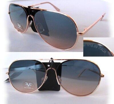 New Versace 19V69 Martina Sunglasses Rose Gold/Brown-Gray (Versace Rose)
