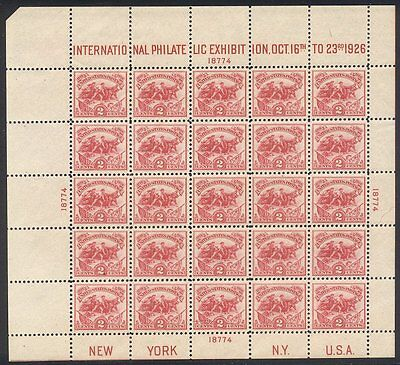 U.S. #630 CHOICE Mint NH - 1926 2c White Plains Sheet