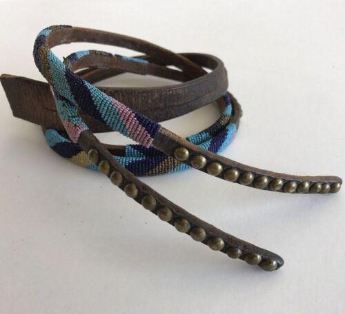 Antique Northern Plains/ Plateau Beaded Harness Leather Belt Drop, circa 1880s