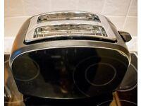 Cookworks stainless steel 2-slice toaster