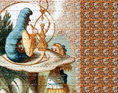EAT ME Alice in Wonderland - BLOTTER ART Perforated Sheet acid free paper art
