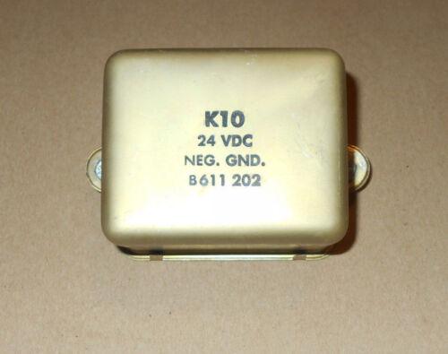 Qty 1 - MASTER K10 RELAY, PART NO. B611202, 24 VDC NEG. GND.