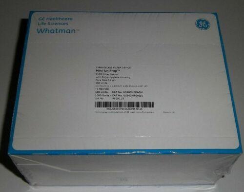 Whatman UN203NPEAQU PVDF Mini-UniPrep Syringeless Filter, 0.4mL (Pack of 100)