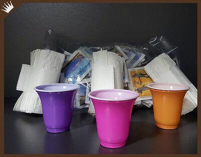 KIT ACCESSORI PER CAFFE' 300 bicchieri, 300 bustine di zucchero, 300 palette
