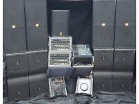 jbl vertec system 12k 24k sound system hire,crown 12k amps mixer radio mics