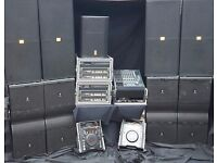jbl vertec system 12k to 24k sound system hire night club wedding venue crown itech powered