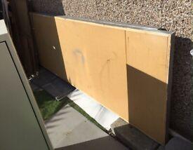 large wooden panel divider partition