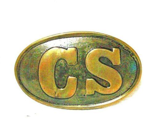 Civil War Belt Buckle Confederate CS Brass Free Shipping