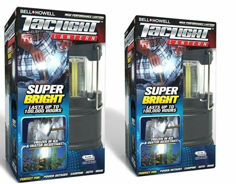 Bell + Howell Ultra Bright Portable Outdoor LED Taclight Lantern -  2 PACK, NEW!
