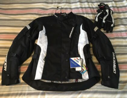 Women's Motorcycle Jacket and Gloves