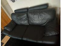 2 x leather sofas .( 6 foot and 5 foot.) And 3 feet wide. Beautiful like new