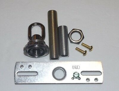 Nickel-plated Hardware (NICKEL PLATED SCREW COLLAR CANOPY HARDWARE SET LAMP PART NEW 10933NJB)