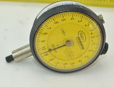 Mahr Federal Model W-41463 Dial Indicator P1i-rht Flat Back Indicator Gage