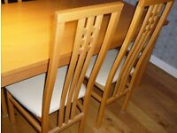 TABLE AND 6 CHAIRS. EX. CONDITION. NO OFFER