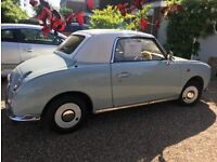 6356 NISSAN FIGARO DUCK EGG BLUE CONVERTIBLE 86,000 MILES LOVELY CONDITION