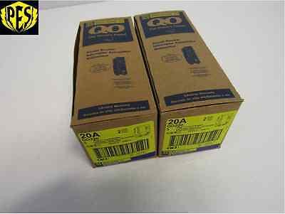 New Lot Of 10 Square D Qo220 2 Pole 20 Amp 120240v Plug-in Qo Circuit Breakers