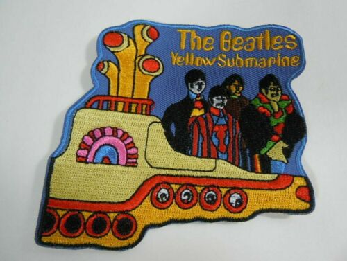 "THE BEATLES- Yellow Submarine - Embroidered Iron-On Patch - 3.5""  NEW!"