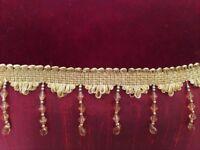 NEW LUXURY RED CUSHIONS VELVET & SILK 2 Gold Trim Beads 4 Plain 2 Tone Furnishings Fabric Bedding