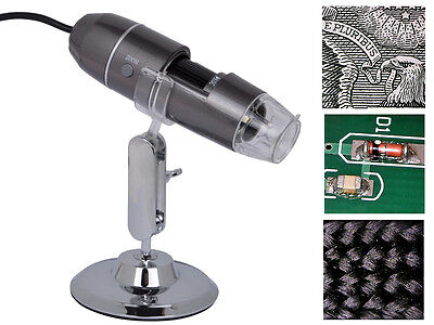 8-LED Light 2MP Magnifier USB Mini Digital Microscope Endoscope Camera 20x-800x on Rummage