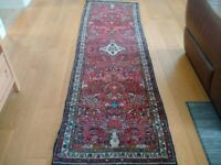 Carpet / Rug Runner Wool Vintage Hand Woven