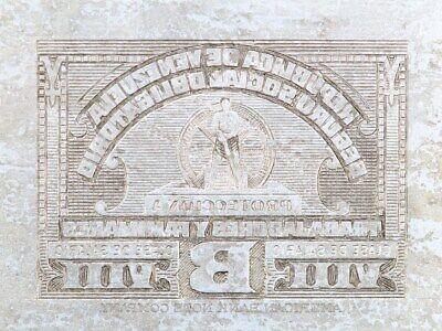 American Bank Note Company: Venezuela Printing Plate