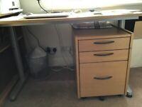 Ikea Oak Veneered Filing Cabinet