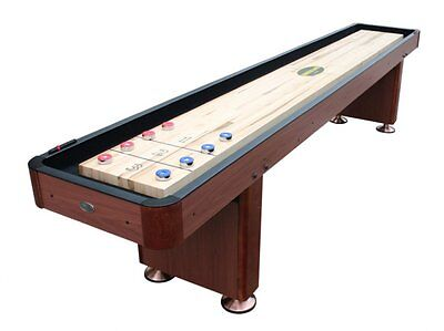 "9 foot SHUFFLEBOARD TABLE ""THE STANDARD"" in CHERRY ~ BERNER BILLIARDS ~ UPGRADED"