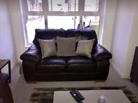 Chestnut 2 Seater Leather Leather Sofa - Excellent Condition