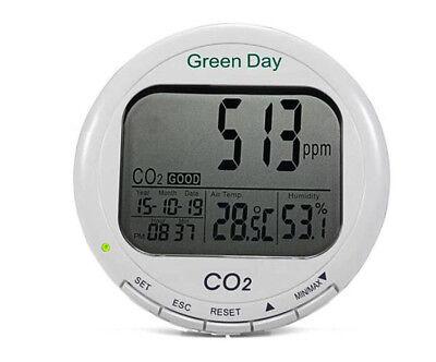 Lcd Display Desktop Co2 Gas Detector Alarm Meter Carbon Dioxide Detector