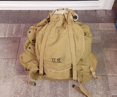 Vintage WWII US Army Backpack With Steel Frame