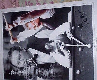DENNIS TAYLOR-SNOOKER-1985 CHAMP-PERSONALLY HAND SIGNED MONTAGE PHOTOGRAPH