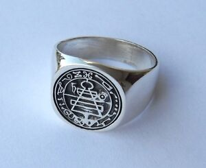 Solid Sterling Silver 925 Secret Seal Of King Solomon Ring