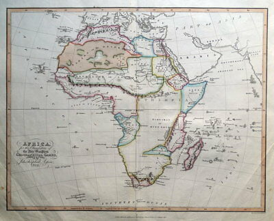 AFRICA, Abbe Gaultier original antique map 1829