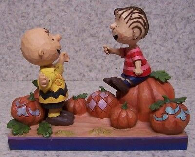 Figurine Peanuts Halloween It's the Great Pumpkin Charlie Brown NEW w/ gift box - It's Halloween Pumpkin