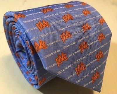 Bird Dog Bay Blue with Orange Bikes Men's 100% Silk Necktie Novelty Tie